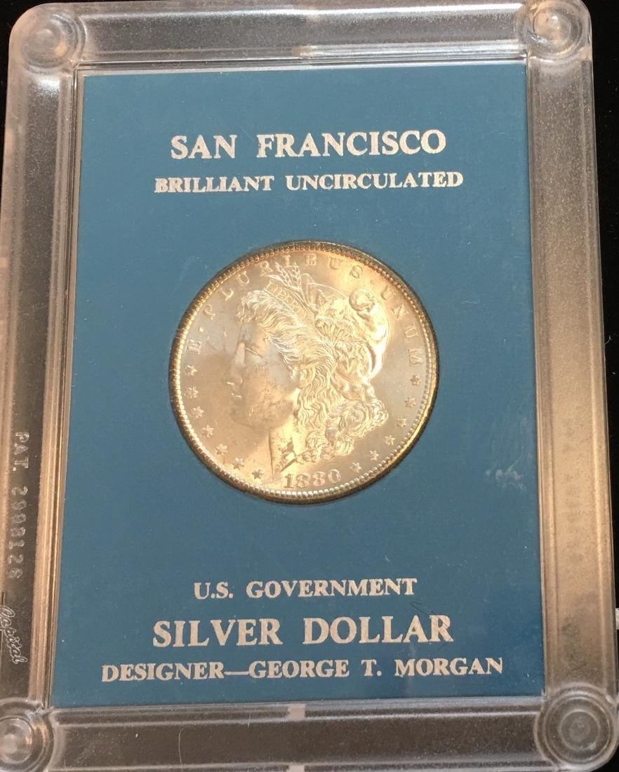 1880-S $1 Silver Morgan Dollar GEM BU