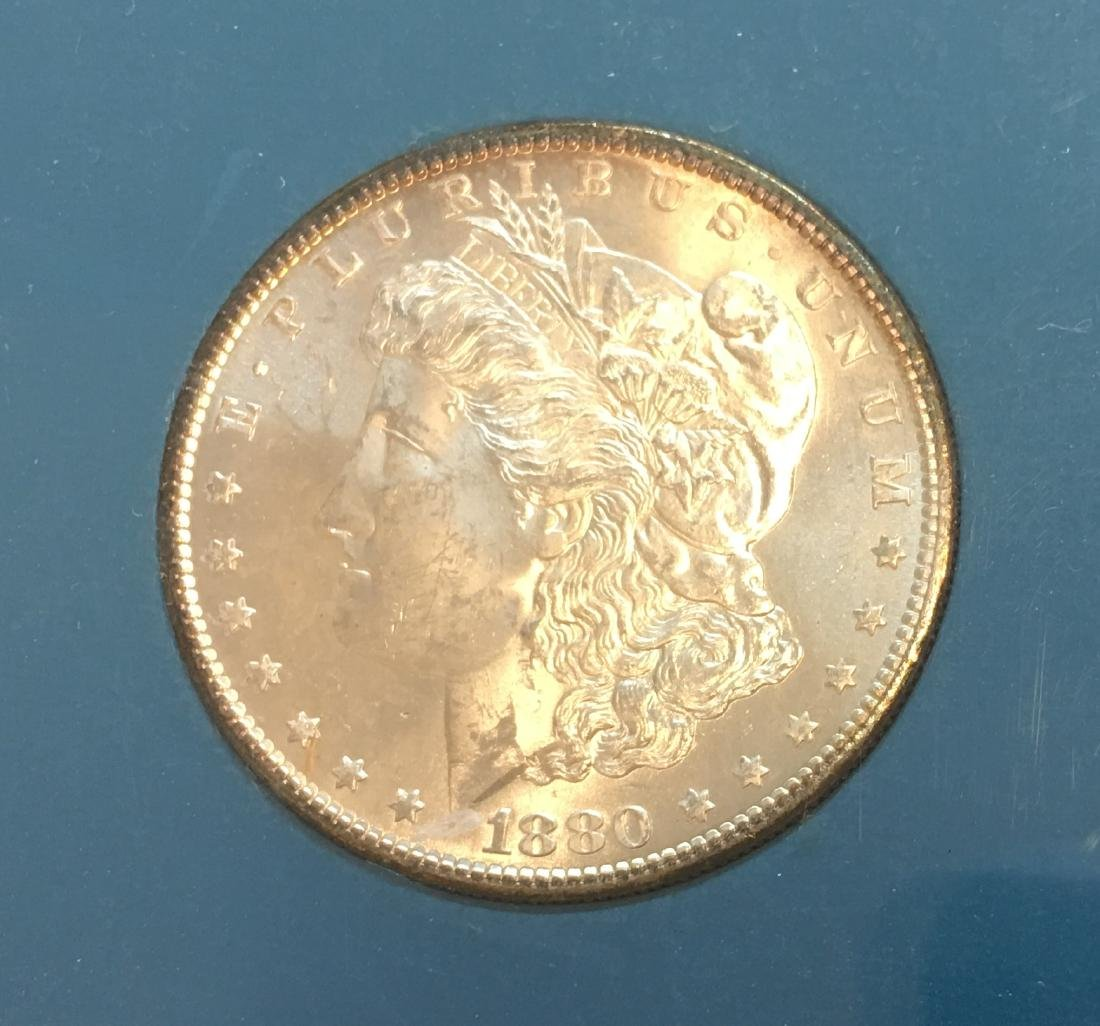 1880-S $1 Silver Morgan Dollar GEM BU - 3