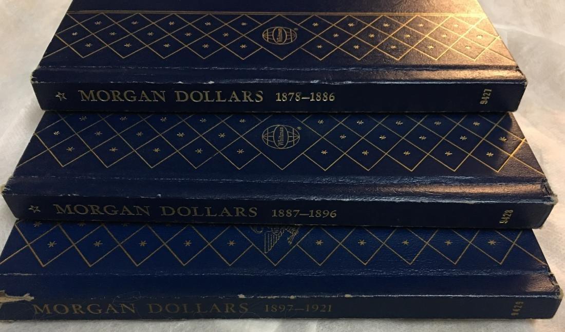 3 Silver Morgan Dollars Albums from 1878-1921
