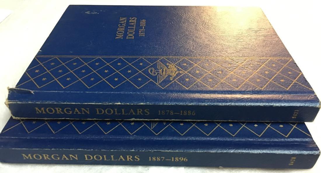 2 Silver Morgan Dollar Albums from 1878-1896