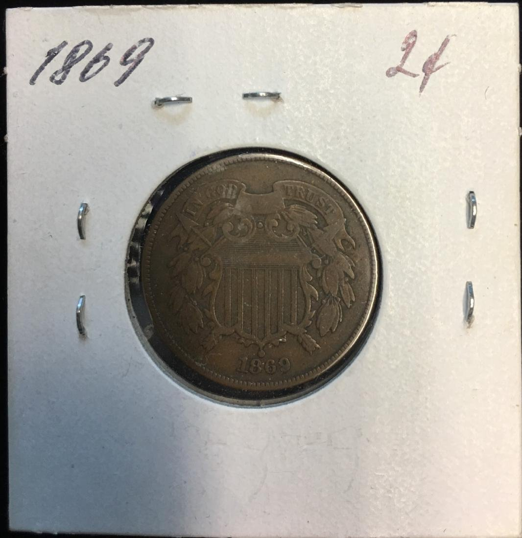 1869 2C Two Cent Piece