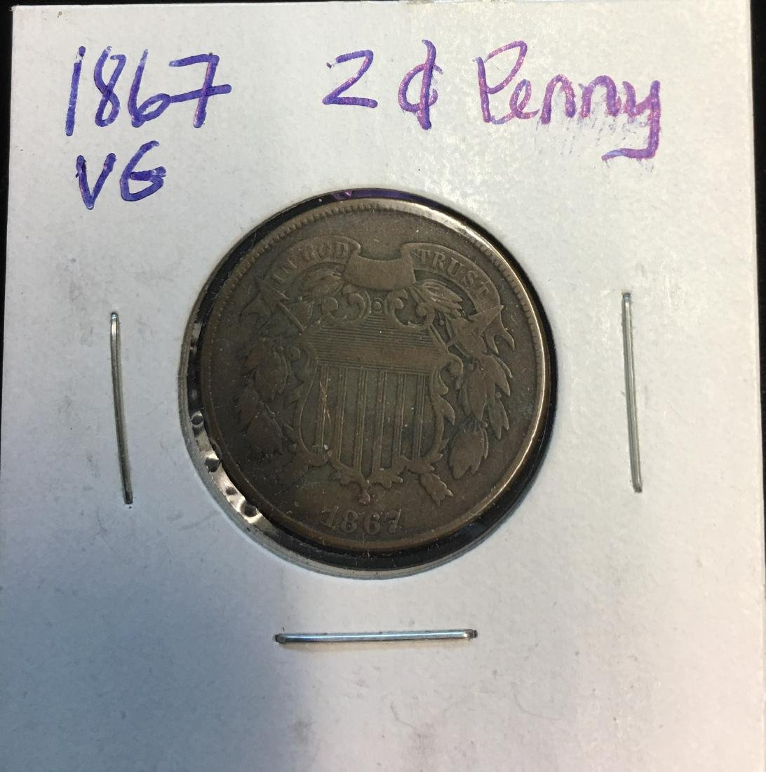 1867 2C Two Cent Piece