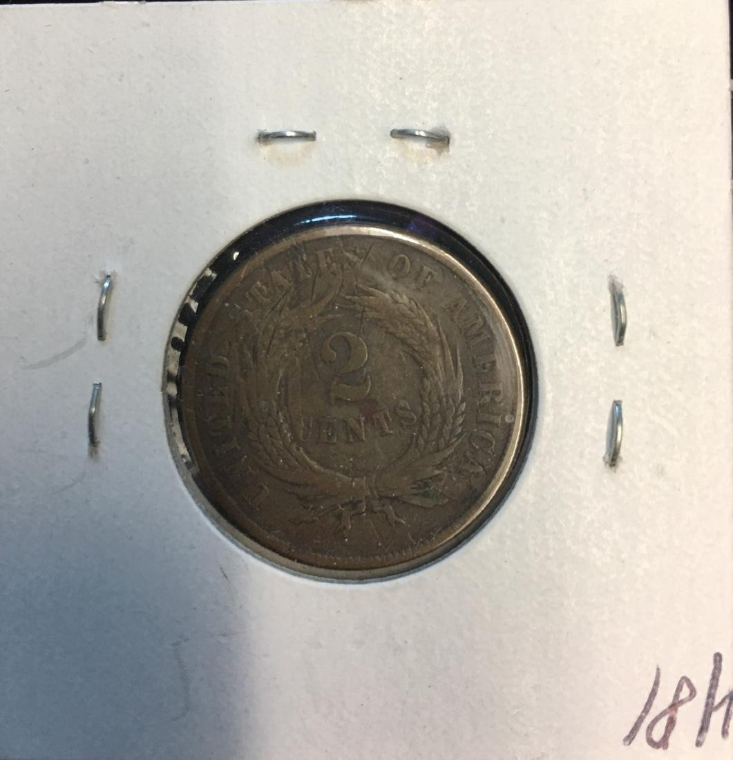 1867 2C Two Cent Piece - 2