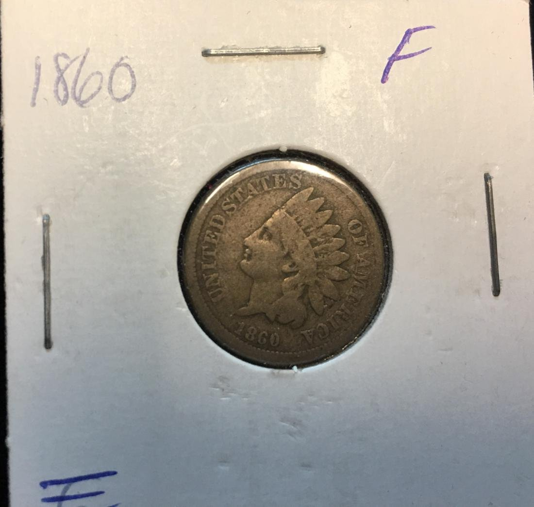 1860 1C Indian Head Cent Rounded Bust