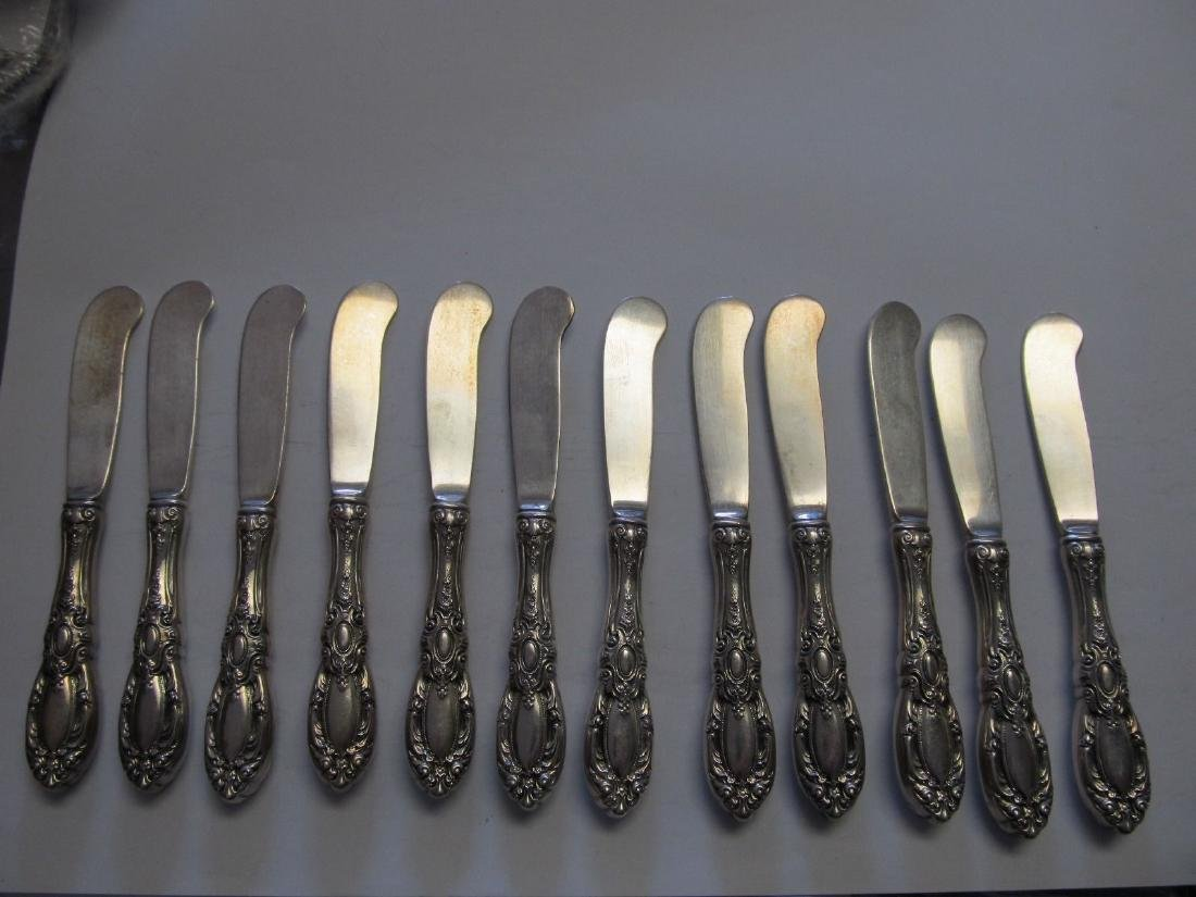 TOWLE KING RICHARD STERLING 12 INDIVIDUAL BUTTER KNIVES