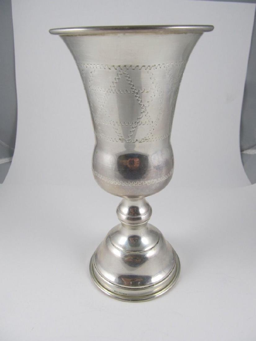 KIDDUSH KIDDISH CUP STERLING LARGE JUDAICA STAR DAVID