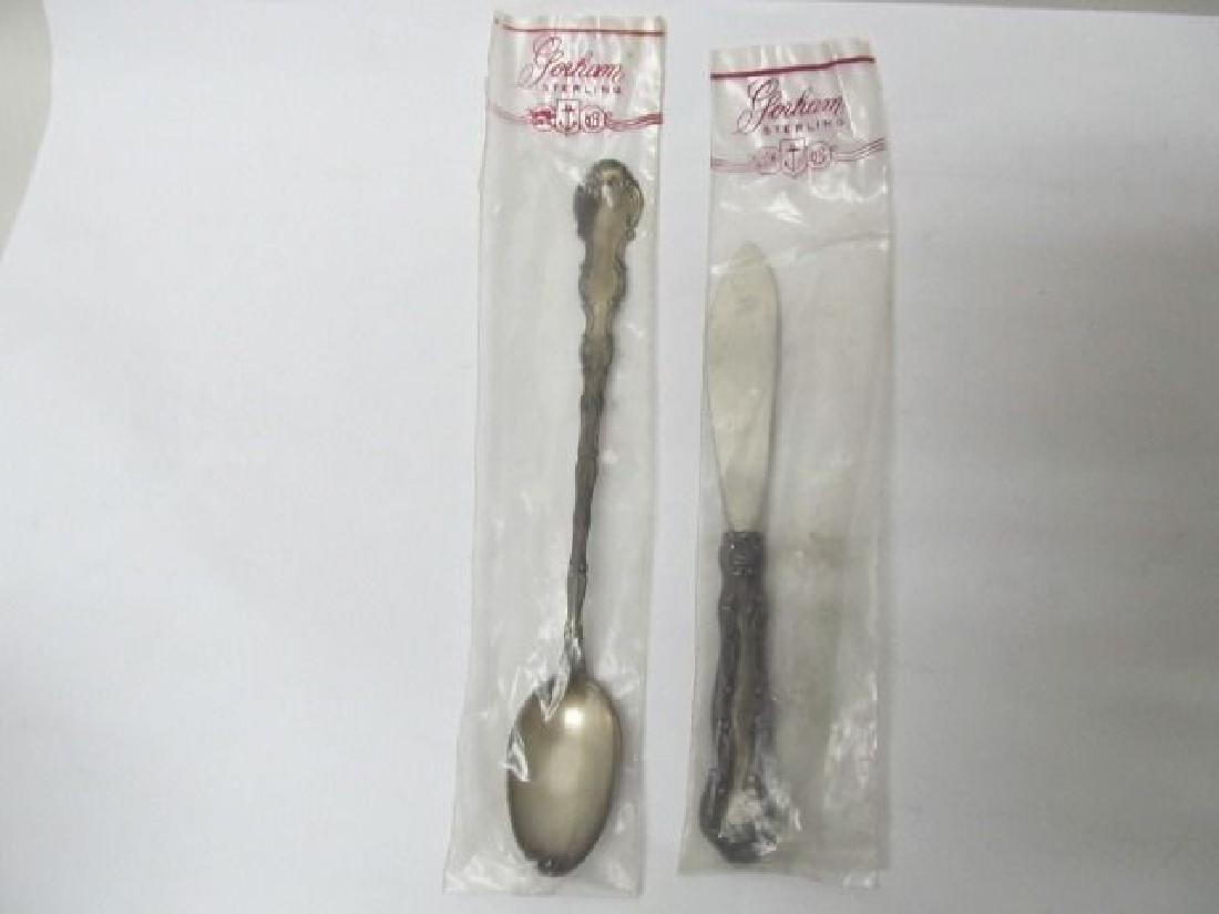 STRASBOURG GORHAM ICE TEA SPOON & BUTTER KNIFE STERLING