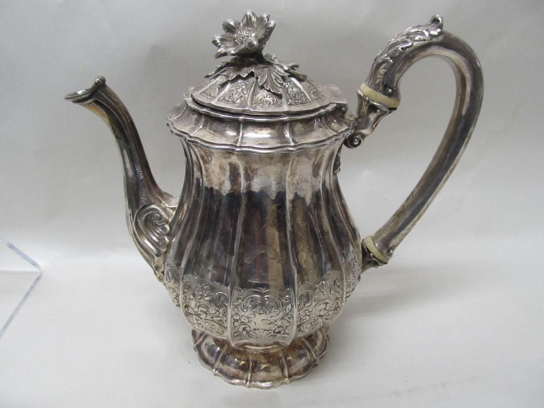 KING GEORGE IV LONDON STERLING COFFEE POT 1824 WK  33.2