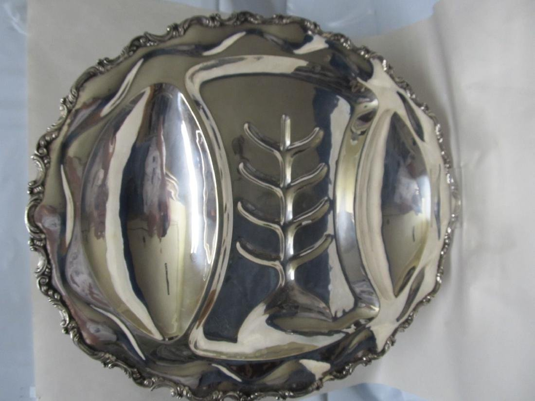 MEXICO STERLING SILVER FINE HEAVY LARGE MEAT 4 FOOTED