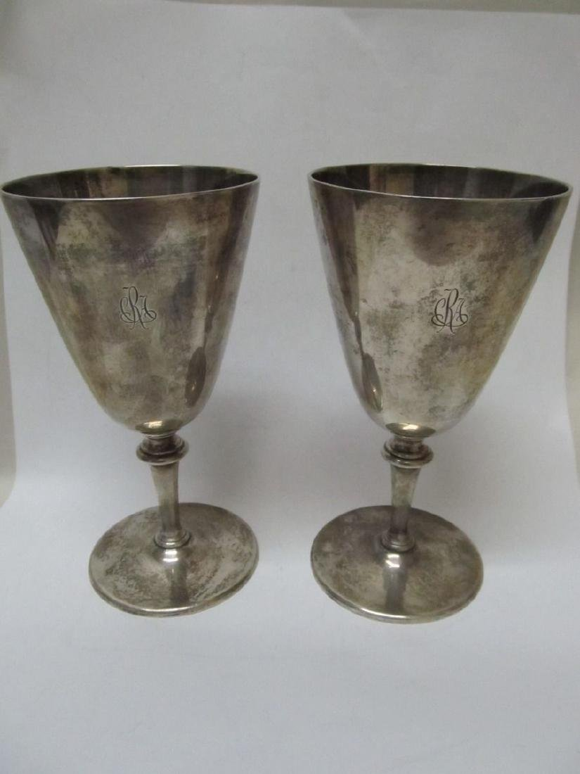 TIFFANY & COMPANY M  STERLING CHALICE GOBLETS WINE