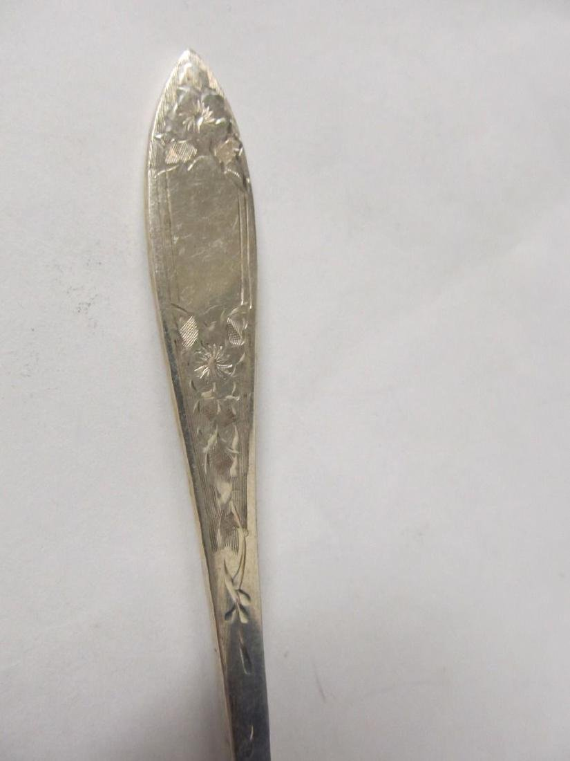 STIEFF LADY CLAIRE STERLING SILVER SALAD FORK EXCELLENT - 2