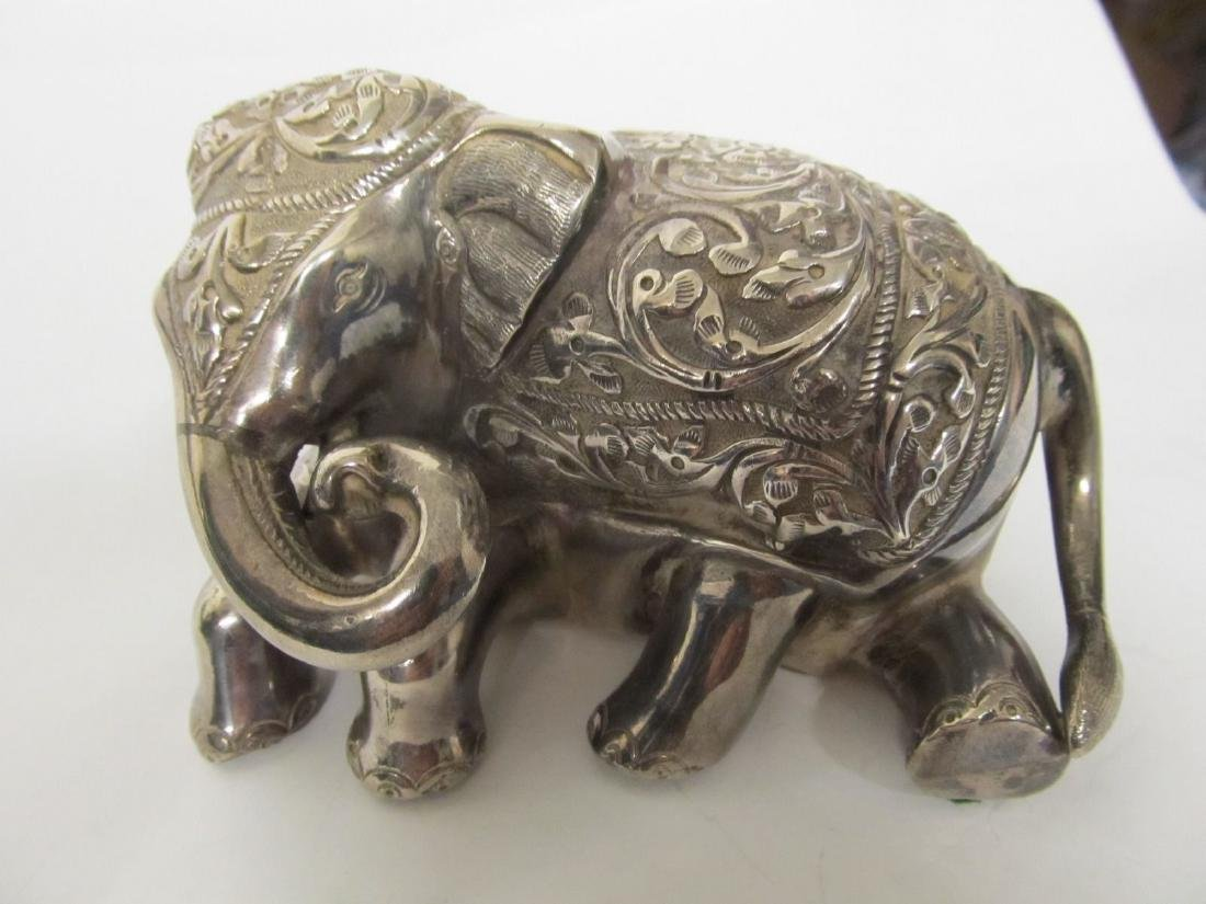 ELEPHANT TIBET .999 SILVER FINELY TOOLED FIGURE