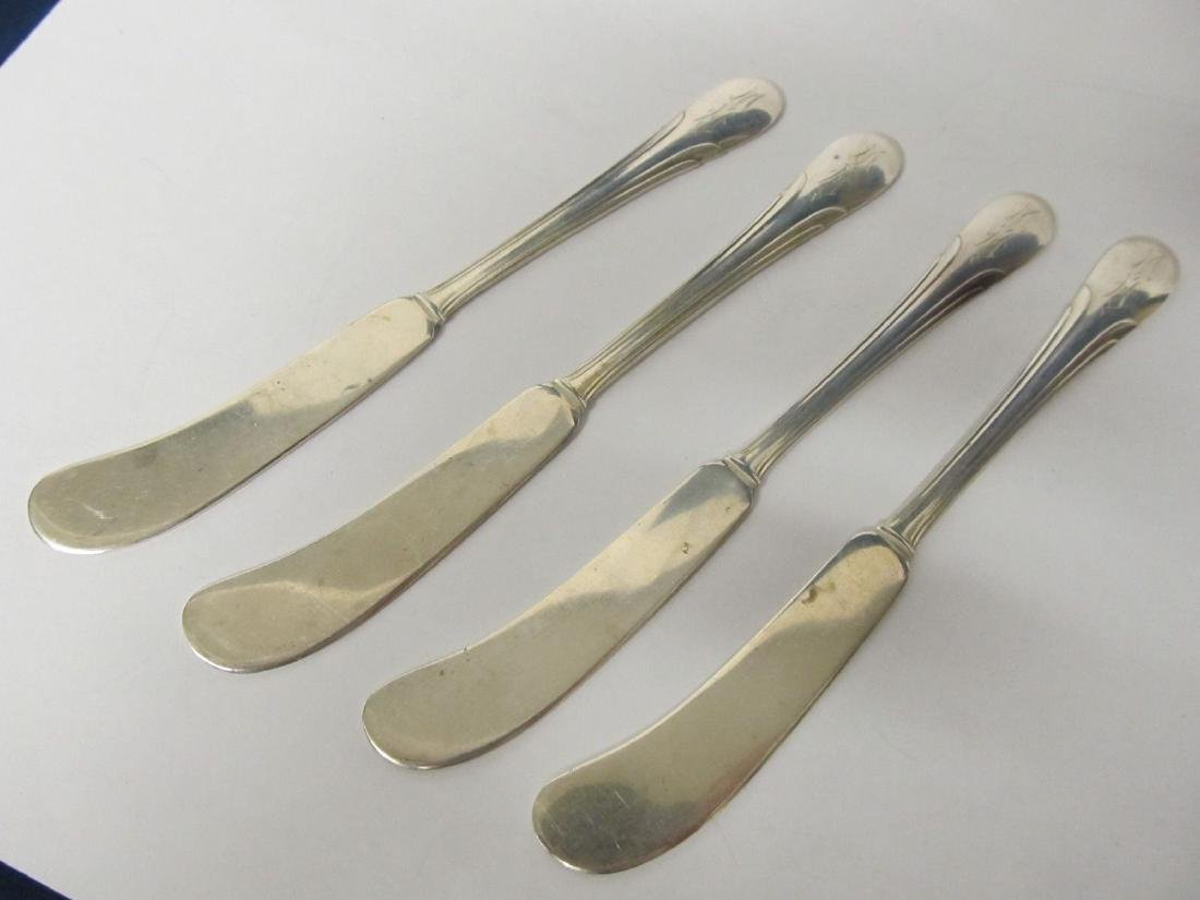 TOWLE SYMPHONY STERLING SET 4 INDIVIDUAL BUTTER KNIVES