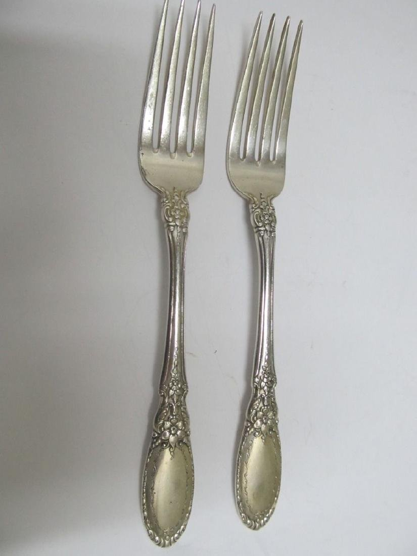 "TOWLE OLD MIRROR  2 STERLING SILVER FORKS 7 1/4"" NO"