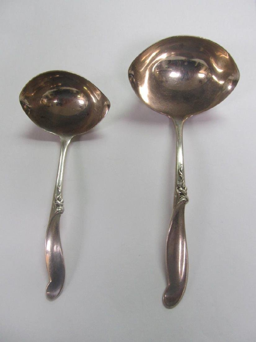 INTERNATIONAL SILVER MELODY STERLING GRAVY SAUCE LADLES