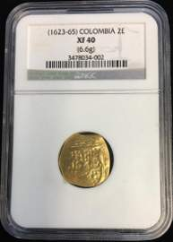 (1623-65) Colombia 2 Escudos NGC XF40 (6.6g)