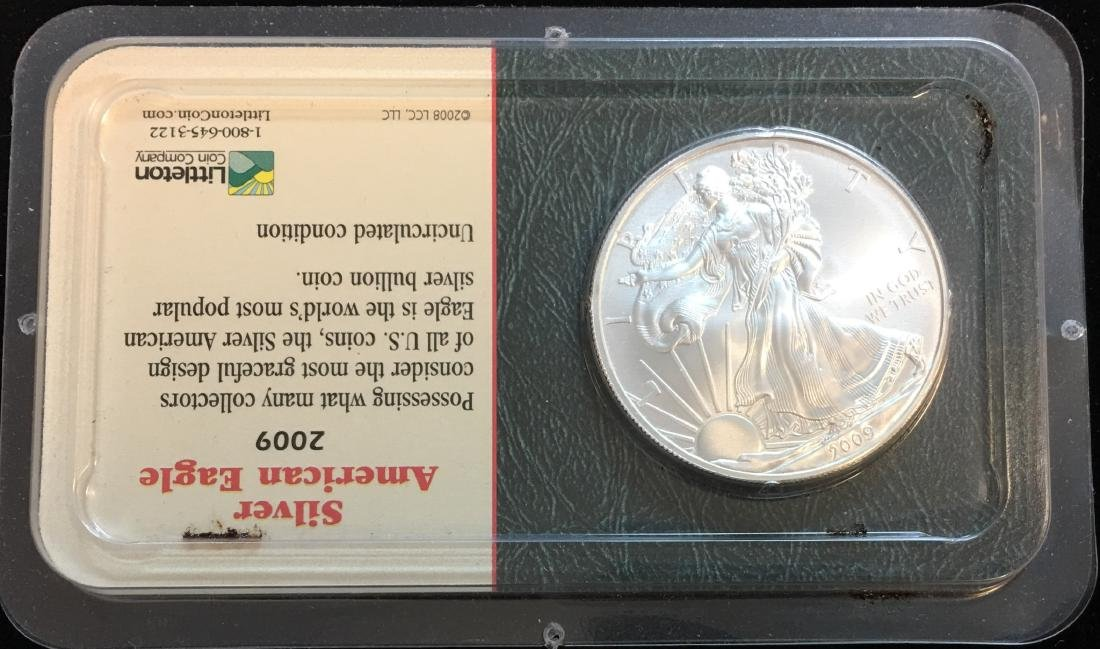 2009 $1 American Silver Eagle 1oz Littleton Coin