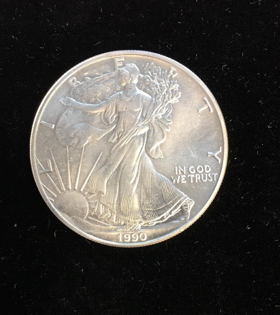 1990 $1 American Silver Eagle 1oz BU