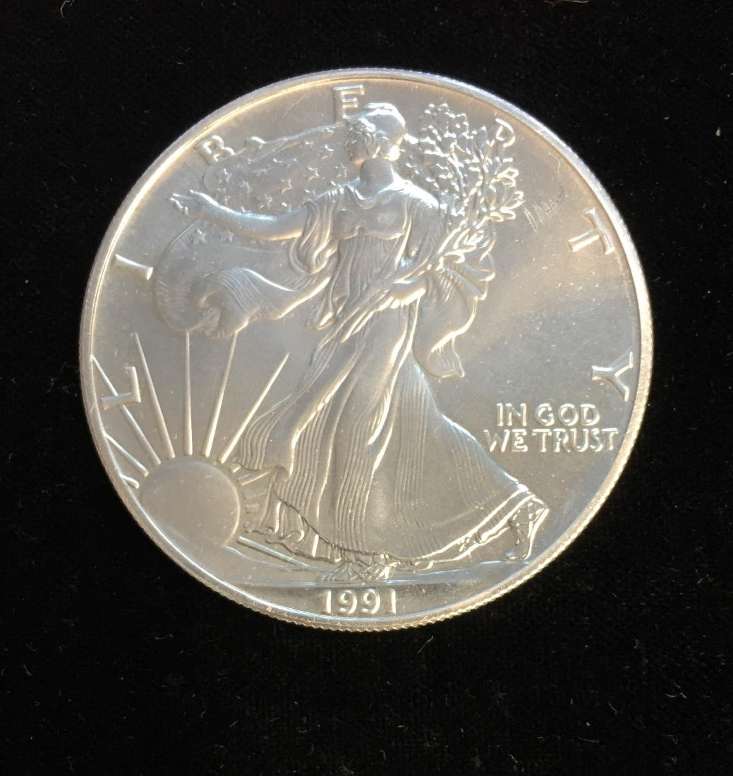 1991 $1 American Silver Eagle 1oz BU