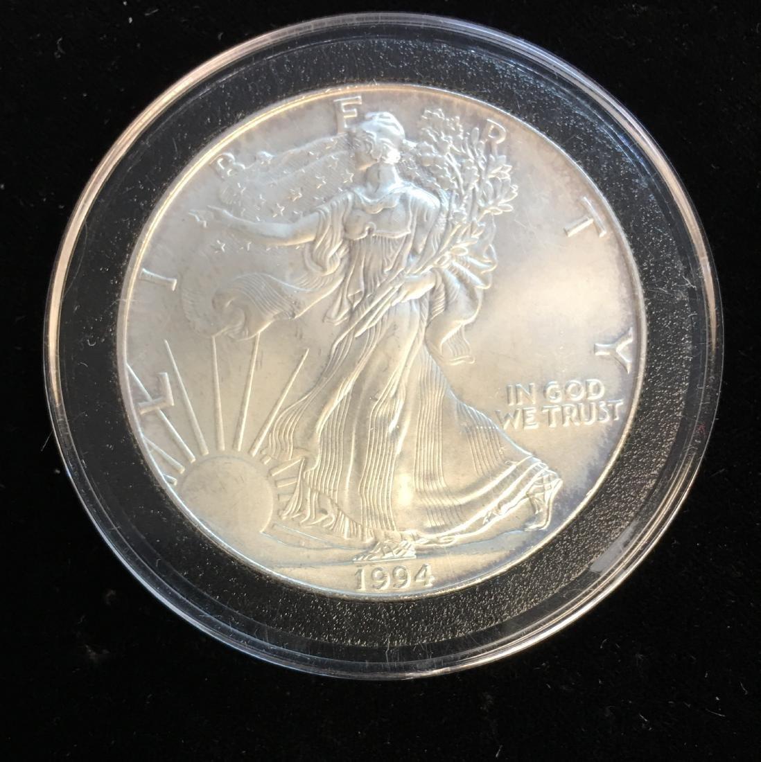 1994 $1 American Silver Eagle 1oz BU