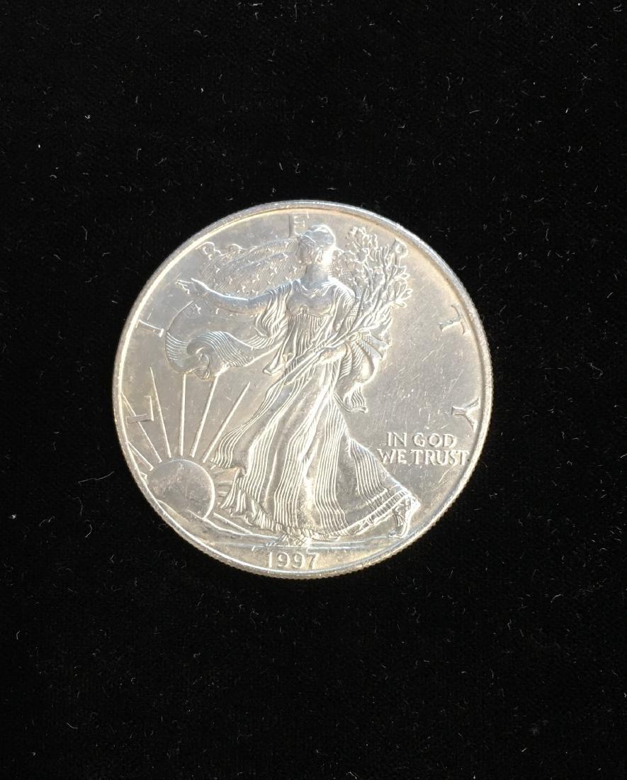 1997 $1 American Silver Eagle 1oz BU