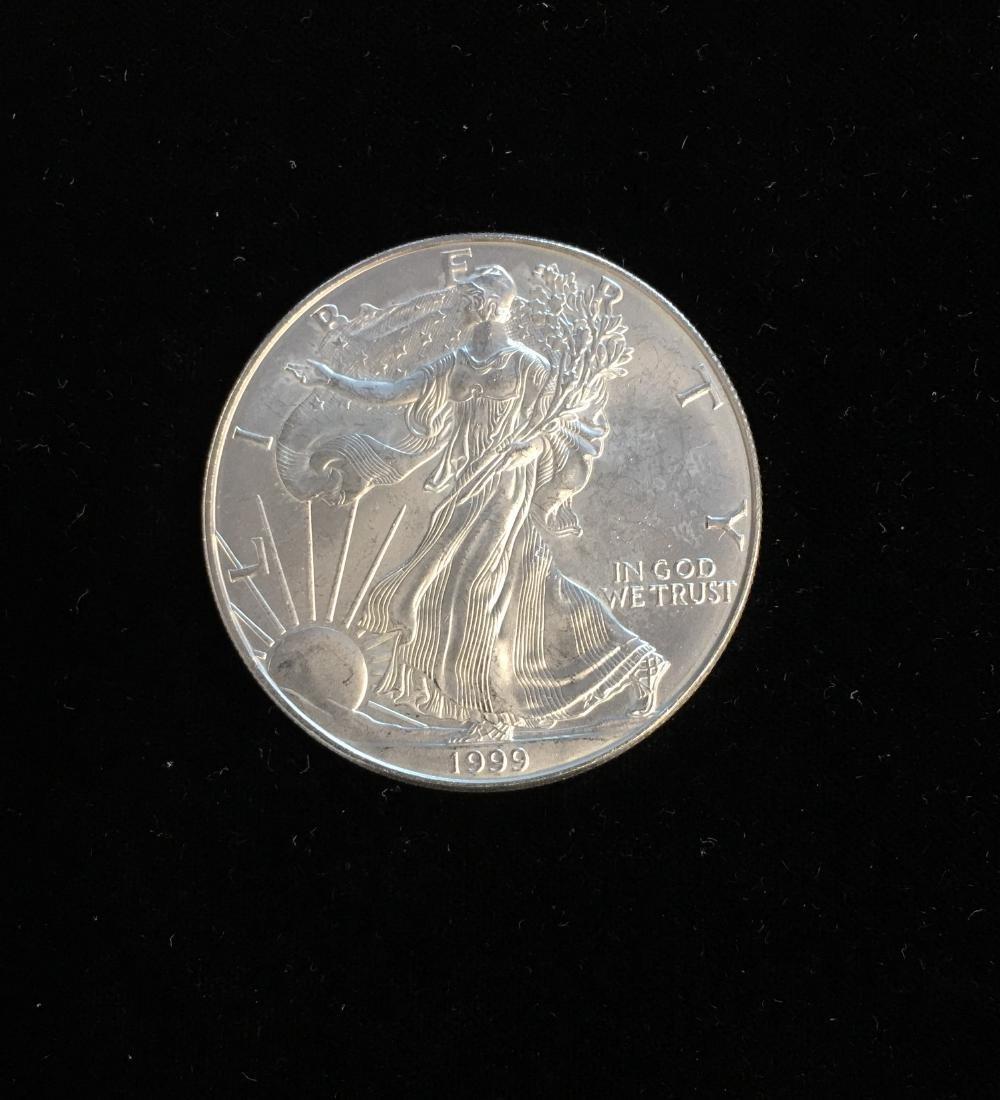 1999 $1 American Silver Eagle 1oz BU