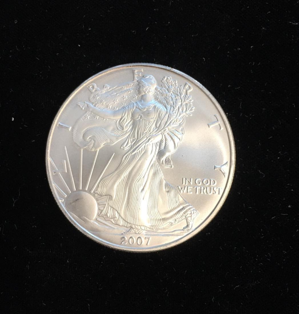 2007 $1 American Silver Eagle 1oz BU
