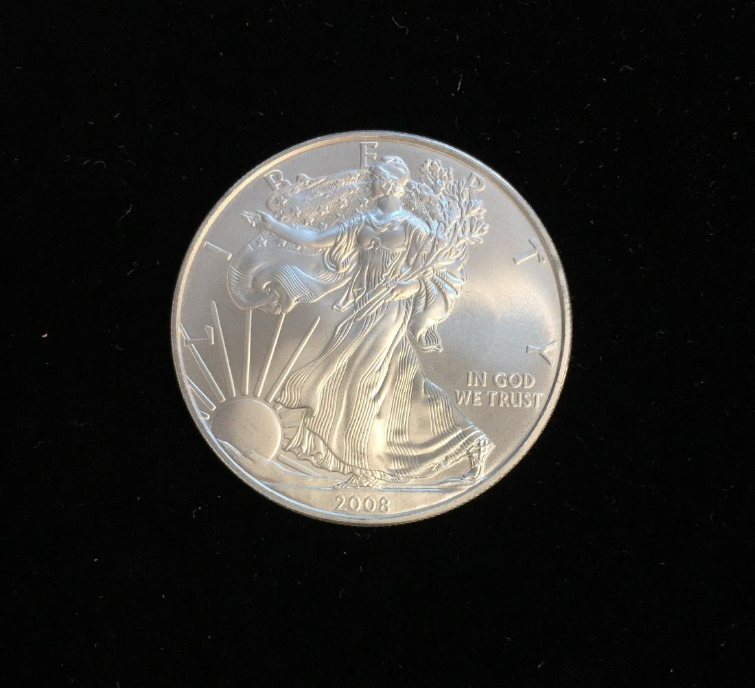 2008 $1 American Silver Eagle 1oz BU