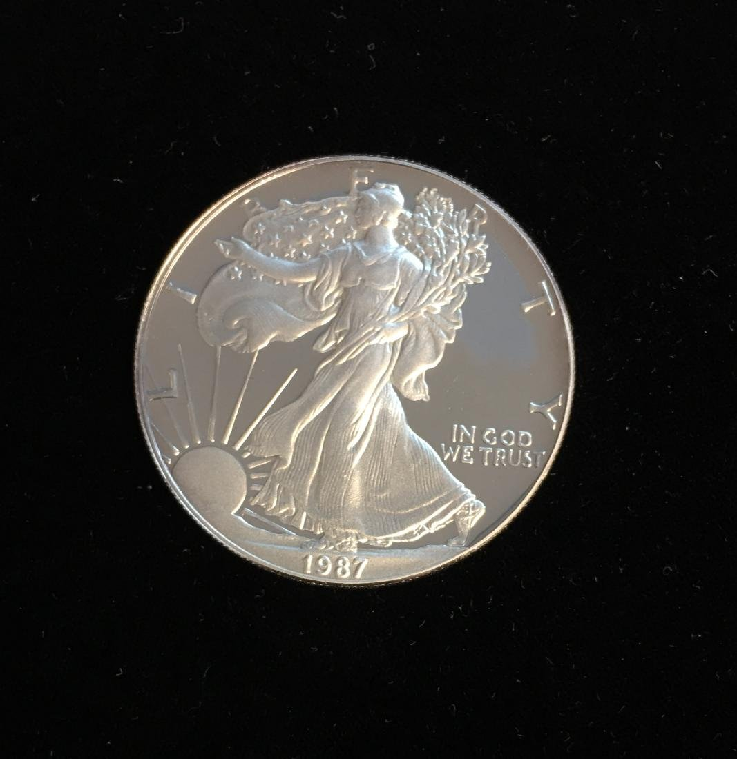 1987-S $1 American Silver Eagle 1oz Proof