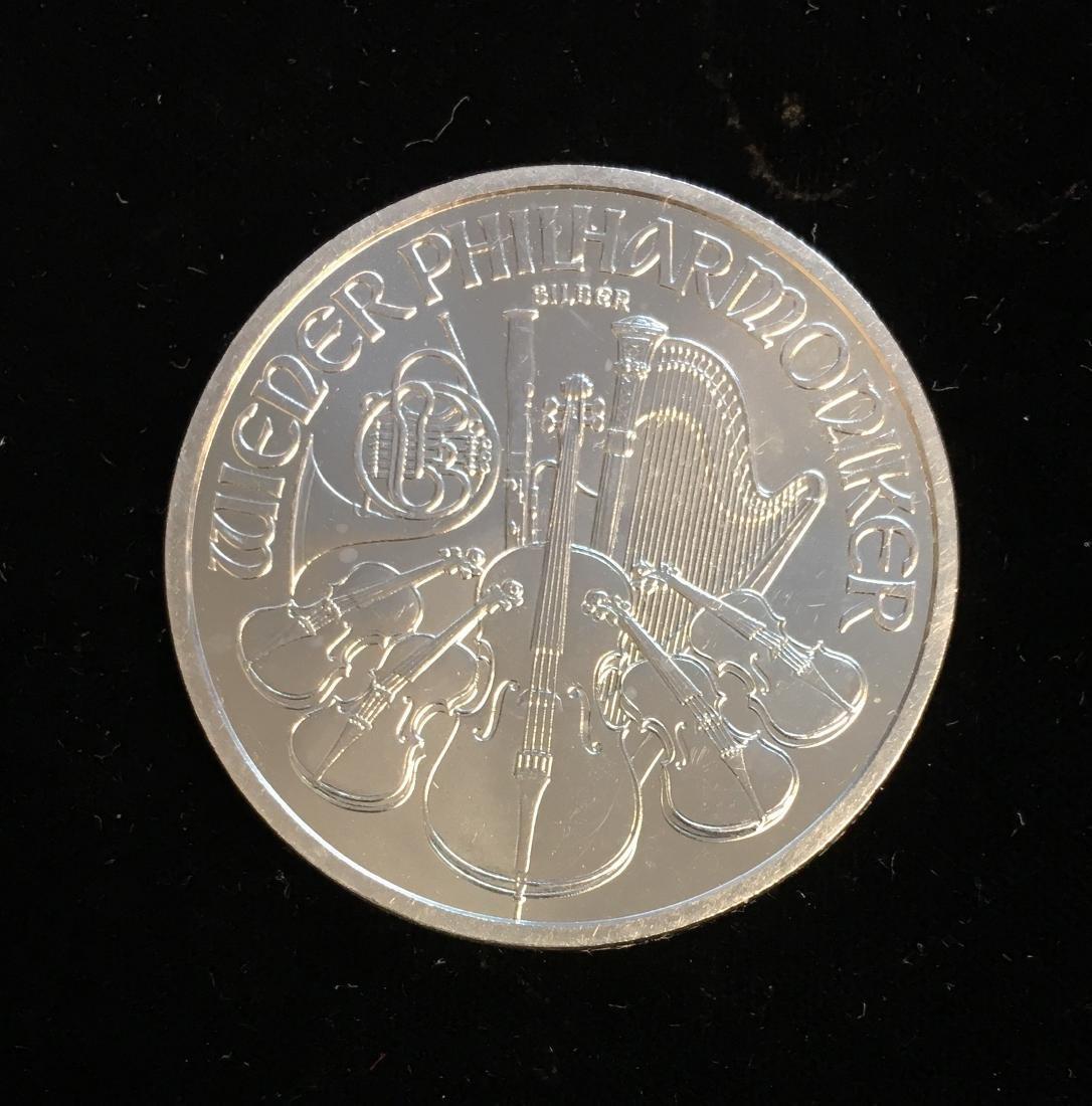 2009 1,50 Euro Austria 1 oz Silver Philharmonic BU
