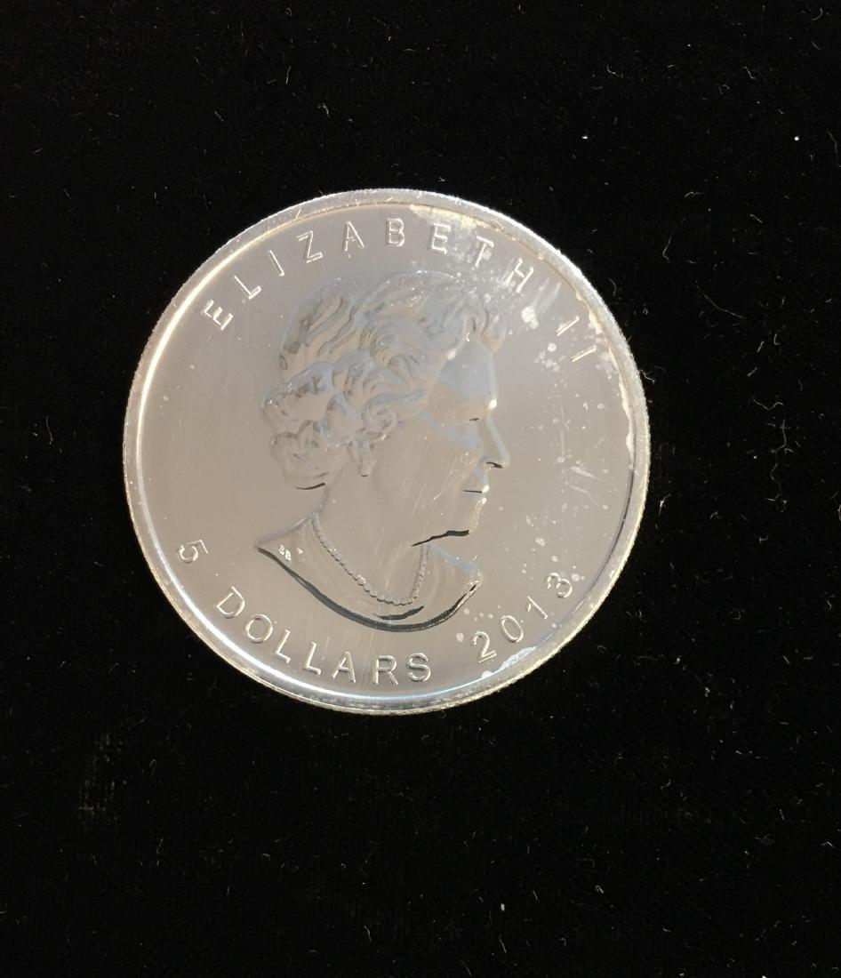 2013 $5 Canada Maple Leaf 1oz. Fine Silver BU
