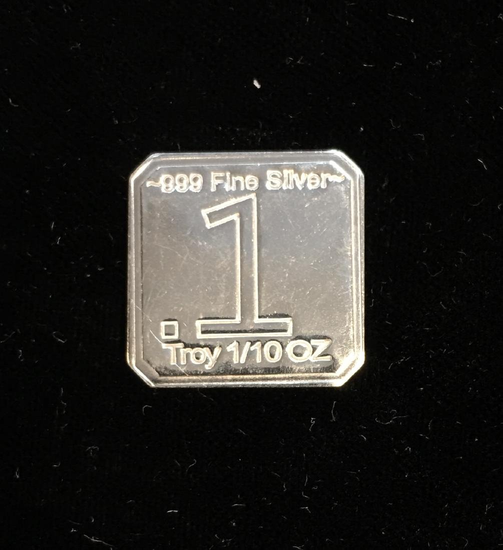 Suns of Liberty Mint 1/10 tr oz .999 Fine Silver