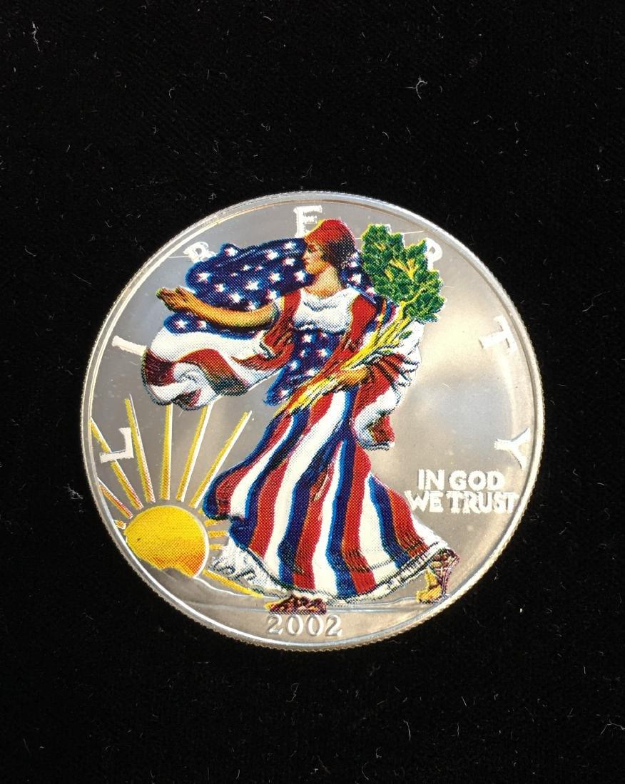 2002 $1 American Silver Eagle Colorized Obverse