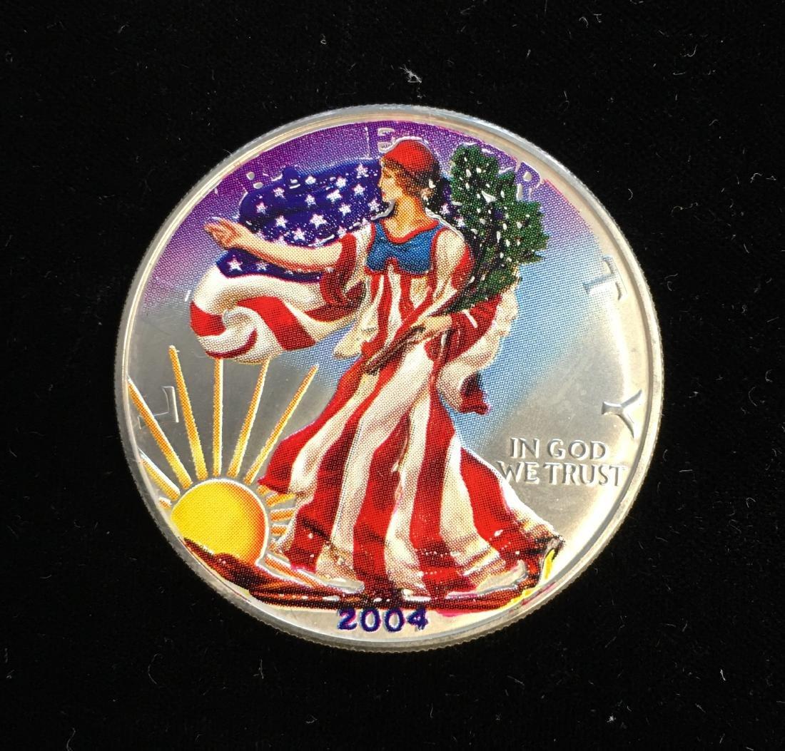 2004 $1 American Silver Eagle Colorized