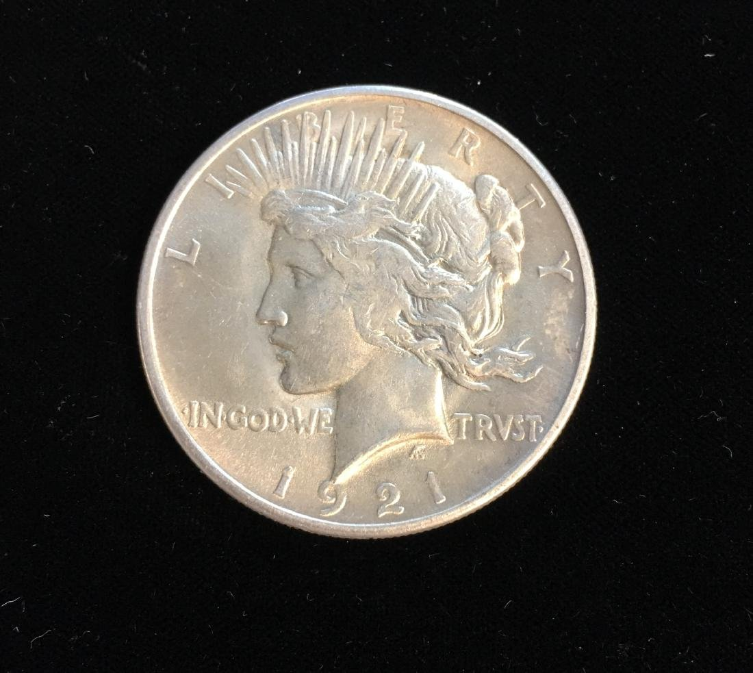 1921-P $1 Peace Silver Dollar GEM BU