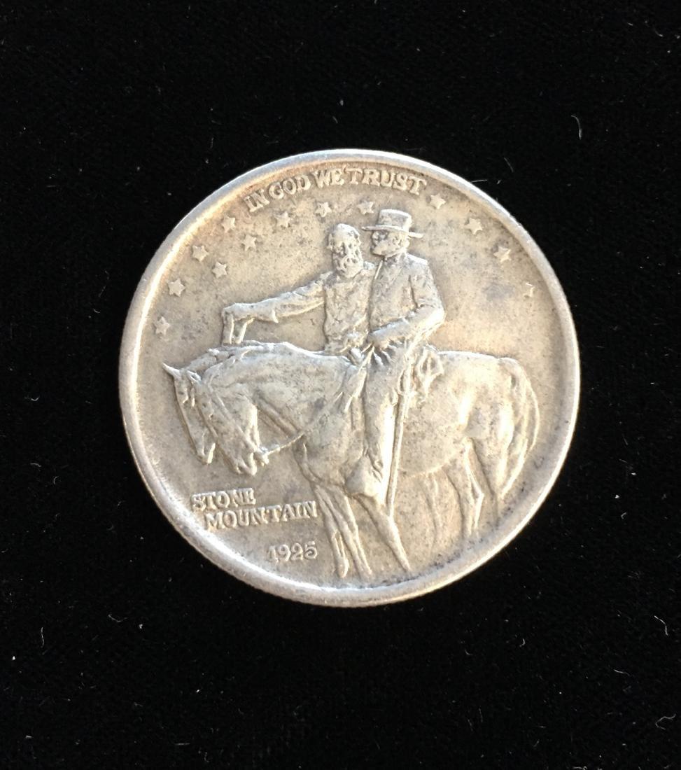 1925 50C Stone Mountain Classic Commemorative Silver