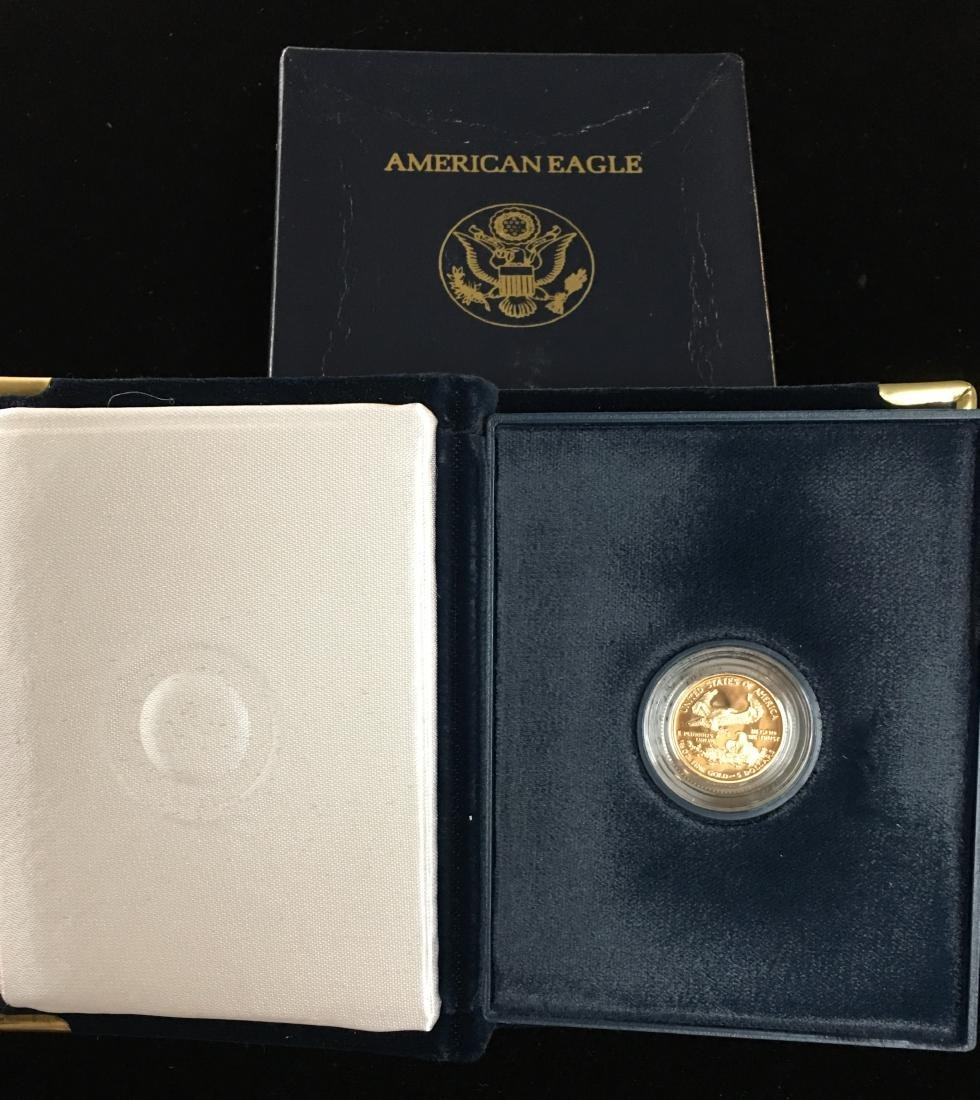 2000-W $5 American Gold Eagle 1/10 oz Proof with Box &