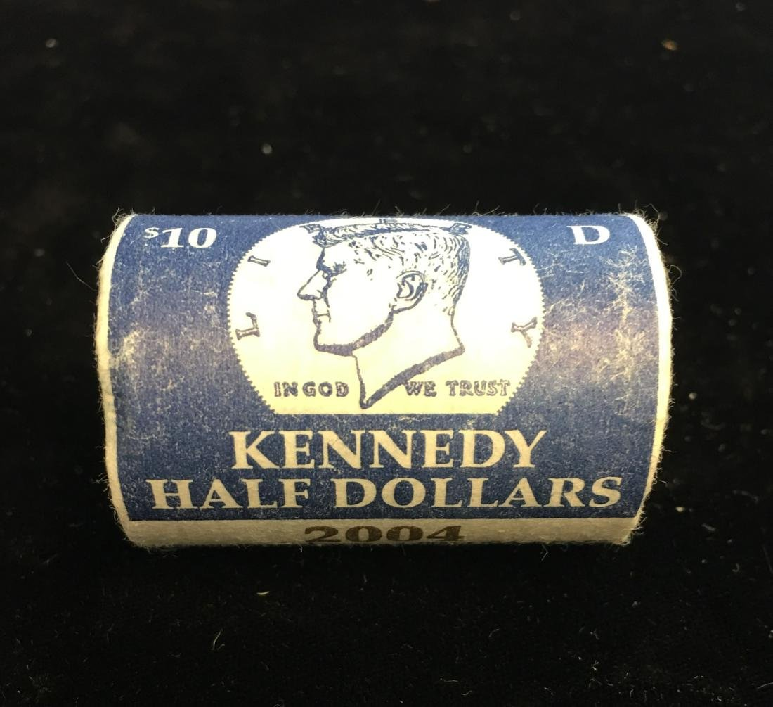 2004-D U.S. Mint Wrapped Roll of 20 Kennedy Half