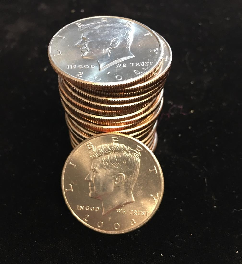 2008-P Roll of 20 Kennedy Half Dollars CLAD BU