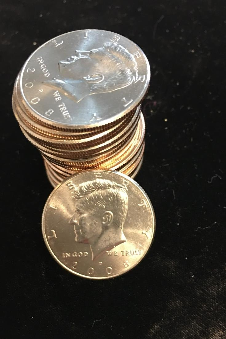 2008-D Roll of 20 Kennedy Half Dollars CLAD BU