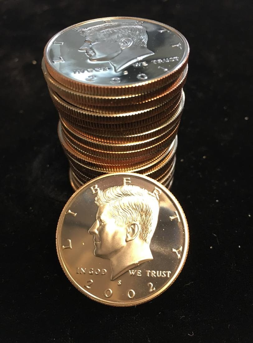 2001-S Roll of 20 Kennedy Half Dollars CLAD PROOF