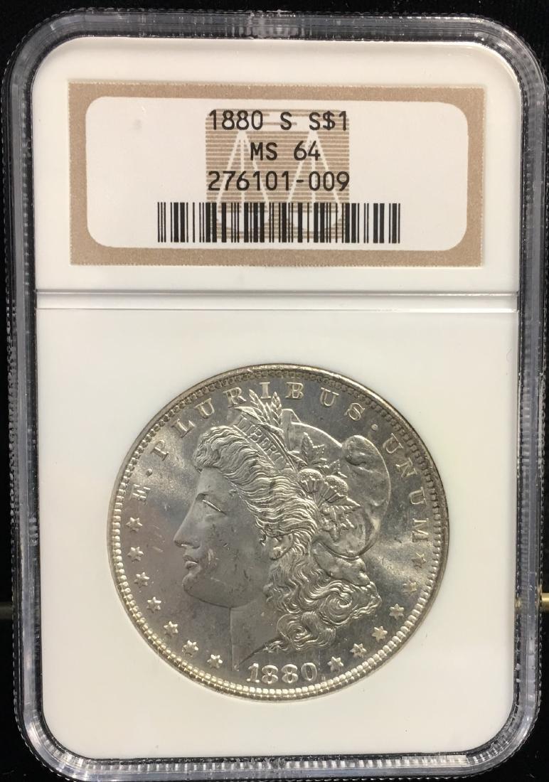 1880-S $1 Morgan Silver Dollar NGC MS64