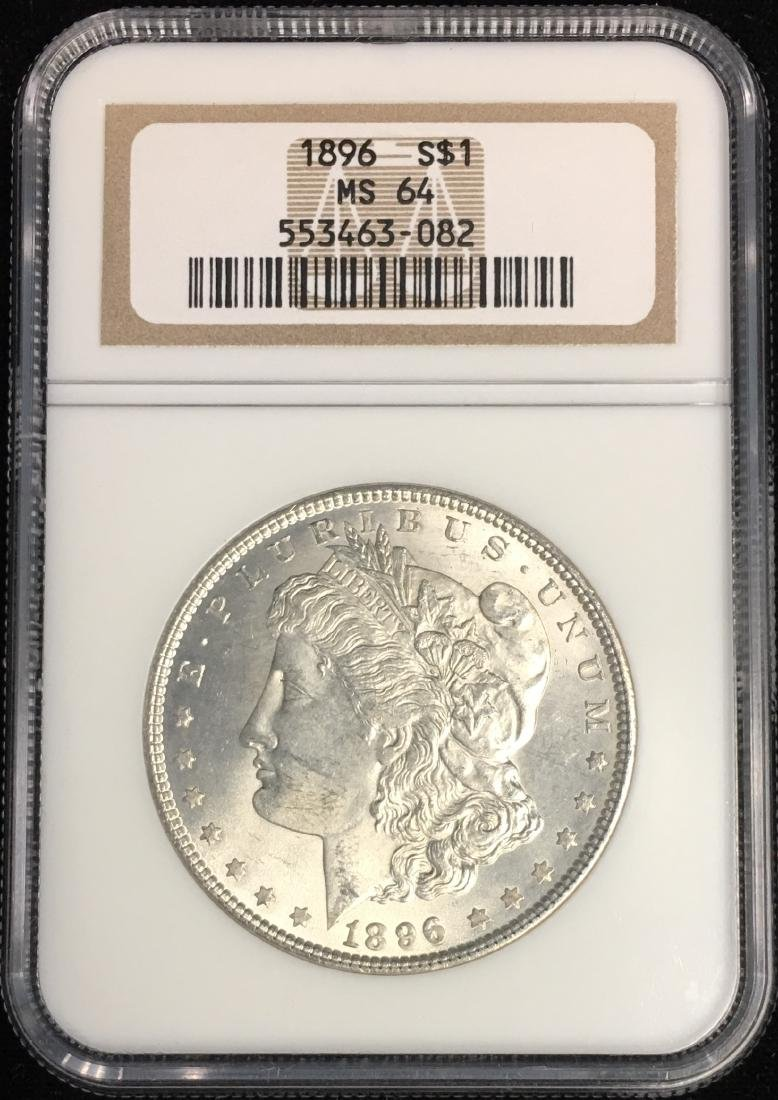 1896-P $1 Morgan Silver Dollar NGC MS64