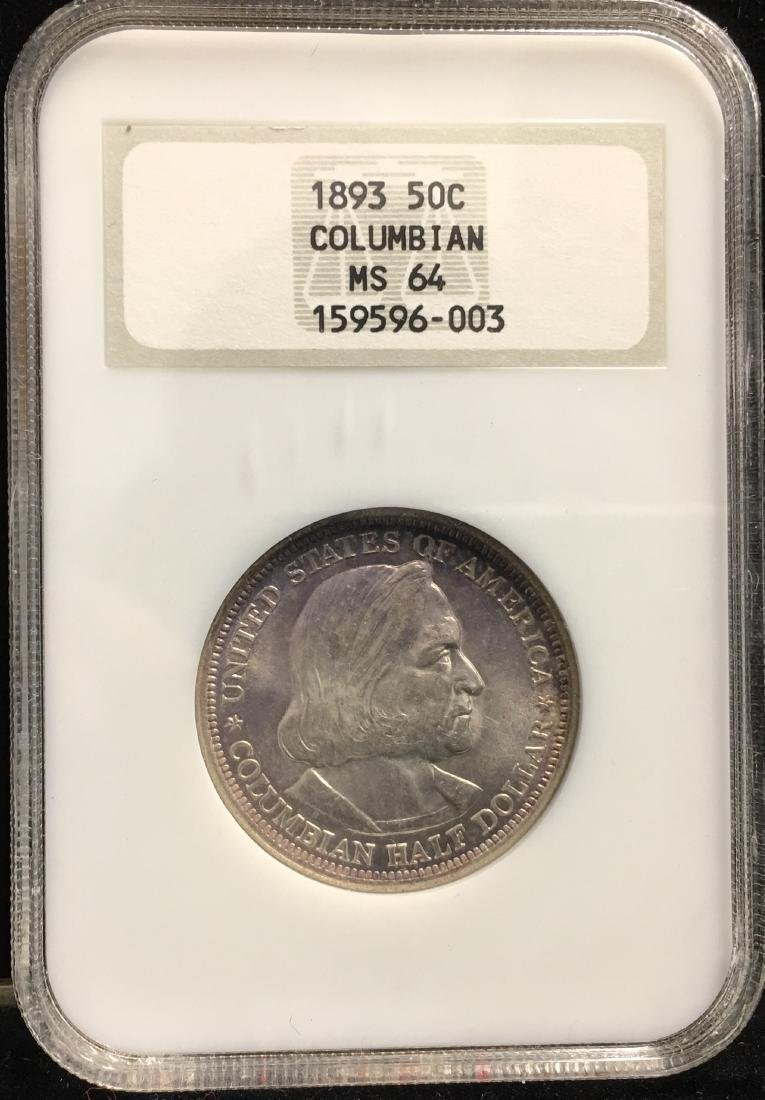 1893 50C Columbian Classic Commemorative NGC MS64