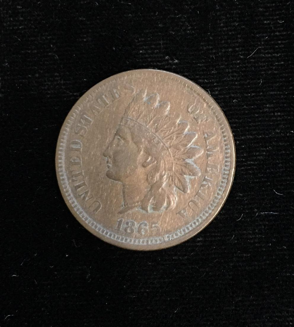1865 1C Indian Head Cent Red VF - XF