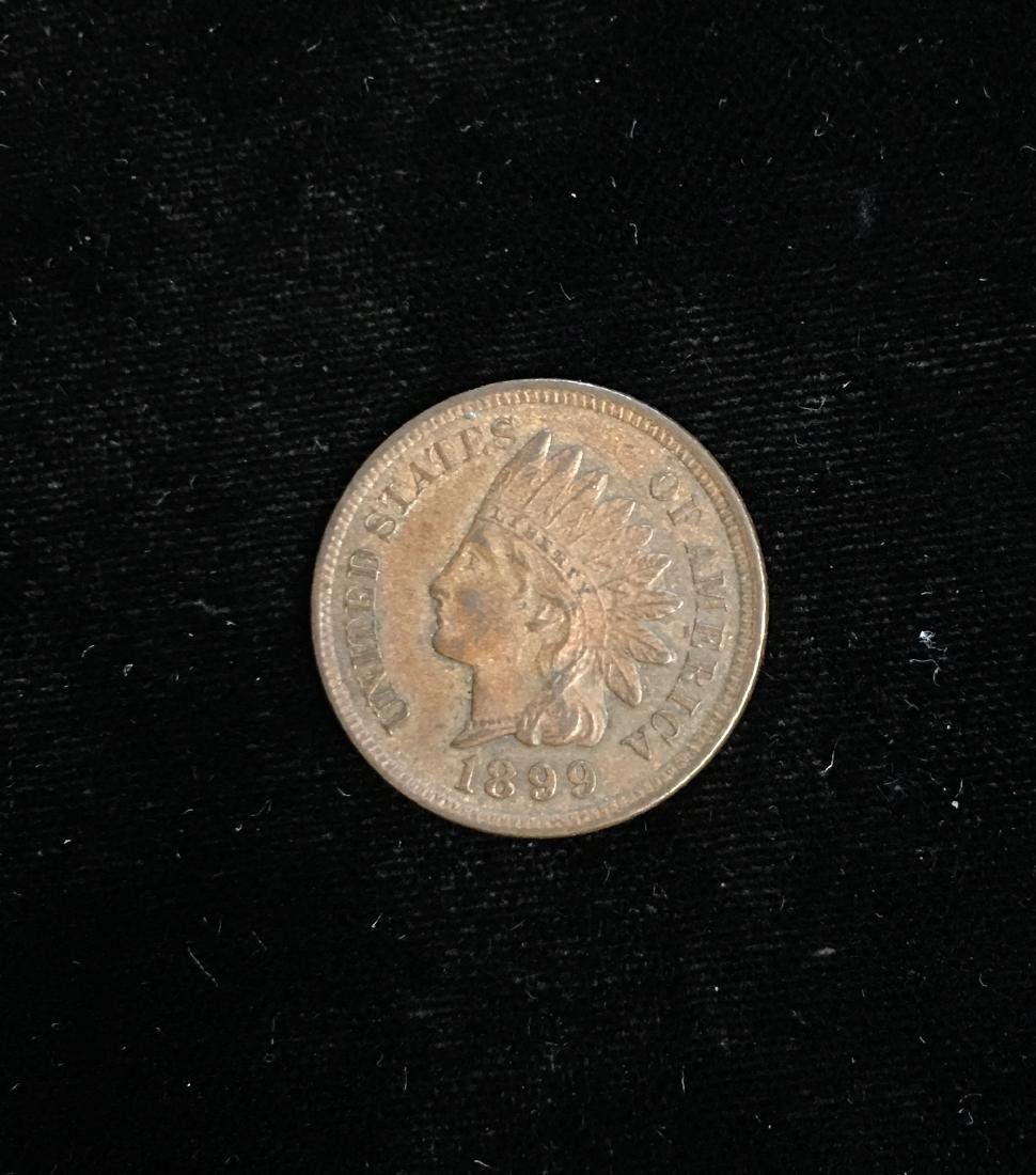 1899 1C Indian Head Cent AU