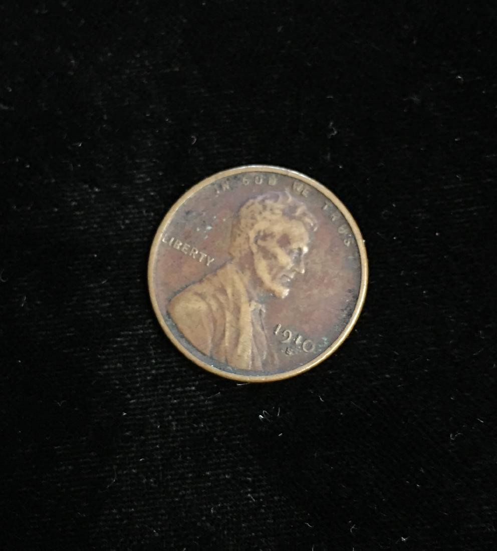 1910-S 1c Lincoln Cent VF