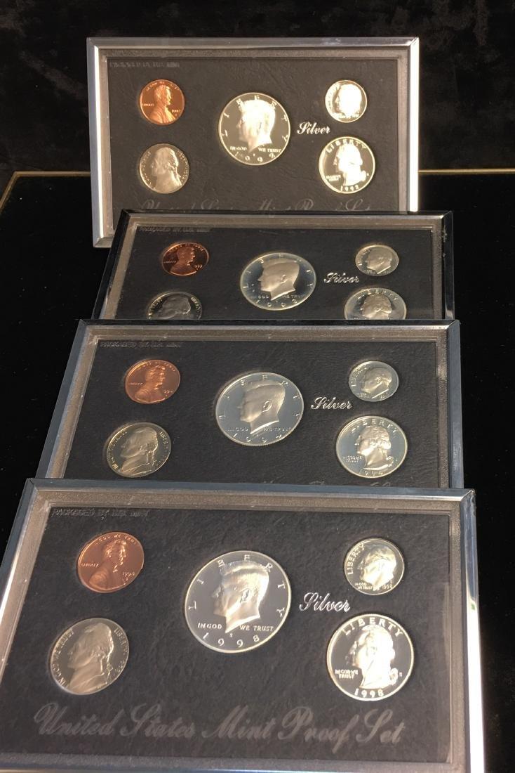 Set of 4 - 1992, 1993, 1994 &1998 U.S. Mint Premier