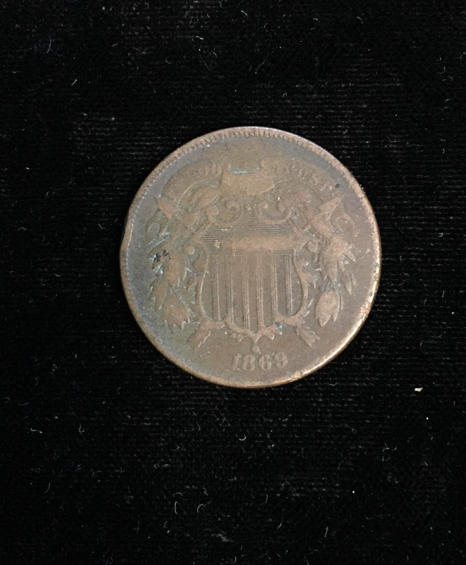 1869 2c Two-Cent Piece Good