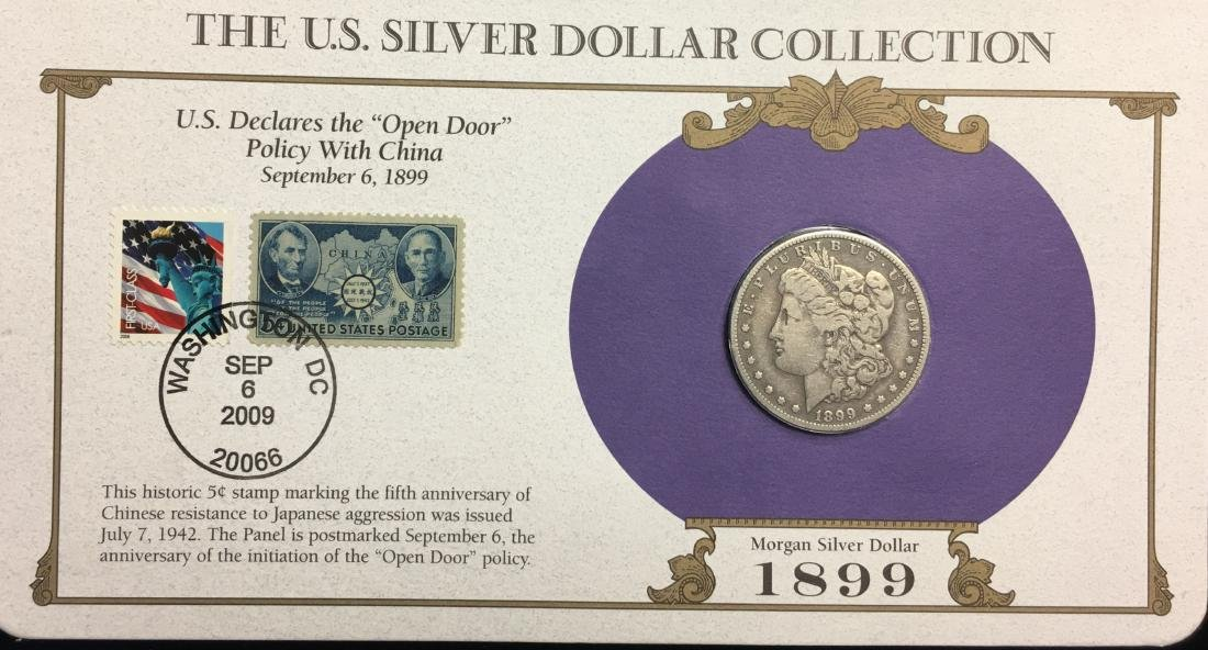 1899-O $1 Morgan Silver Dollar Circulated with Stamps -